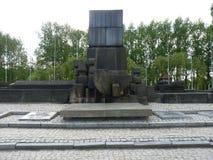 Διεθνές μνημείο στα θύματα του στρατόπεδου σε ένα στρατόπεδο συγκέντρωσης auschwitz birkenau Στοκ φωτογραφία με δικαίωμα ελεύθερης χρήσης