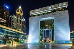 Διεθνές οικονομικό κέντρο του Ντουμπάι Στοκ Φωτογραφίες