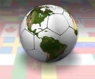 διεθνές ποδόσφαιρο σφαι& Στοκ φωτογραφίες με δικαίωμα ελεύθερης χρήσης