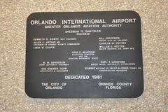 Διεθνές σημάδι αερολιμένων του Ορλάντο Στοκ εικόνες με δικαίωμα ελεύθερης χρήσης
