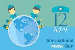 Διεθνές σχέδιο ημέρας νοσοκόμων το Μάιο κάθε χρόνο από το διάνυσμα στην έννοια τόνου τονικότητας διανυσματική απεικόνιση