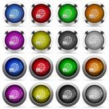 Διεθνές σύνολο κουμπιών μεταφορών Στοκ Εικόνες