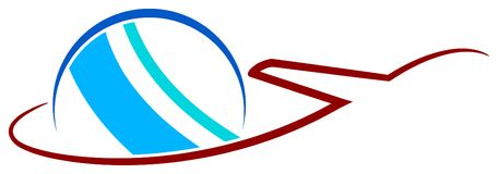 διεθνές ταξίδι λογότυπων διανυσματική απεικόνιση