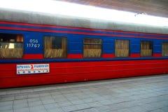 Διεθνές τραίνο μεταξύ της Γεωργίας και της Αρμενίας στοκ φωτογραφίες με δικαίωμα ελεύθερης χρήσης