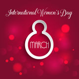 Διεθνές υπόβαθρο ημέρας γυναικών ` s ελεύθερη απεικόνιση δικαιώματος