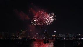 Διεθνές φεστιβάλ πυροτεχνημάτων Pattaya σε Chonburi απόθεμα βίντεο