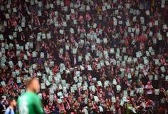 Διεθνές φιλικό παιχνίδι Πολωνία - Ουρουγουάη Στοκ Εικόνα