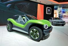 διεθνής έκθεση αυτοκινήτου της 89ης Γενεύης - με λάθη αυτοκίνητο έννοιας ταυτότητας του Volkswagen στοκ εικόνα