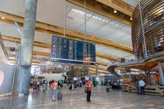 Διεθνής αερολιμένας του Όσλο Gardermoen Στοκ φωτογραφία με δικαίωμα ελεύθερης χρήσης