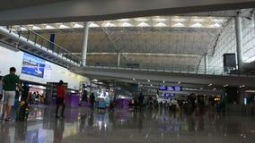 Διεθνής αερολιμένας Χονγκ Κονγκ ή αερολιμένας του Chek Lap Kok στο Χονγκ Κονγκ, ηπειρωτική Κίνα φιλμ μικρού μήκους