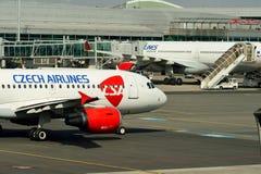 Διεθνής αερολιμένας της Πράγας Στοκ Εικόνες