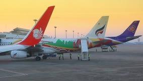 Διεθνής αερολιμένας της Mai Chiang (CNX) της Ταϊλάνδης απόθεμα βίντεο
