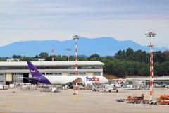 Διεθνής αερολιμένας του Μιλάνου Malpensa στοκ εικόνα με δικαίωμα ελεύθερης χρήσης
