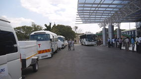 Διεθνής αερολιμένας του Harry Mwaanga Nkumbula (αερολιμένας Livingstone) στη Ζάμπια απόθεμα βίντεο