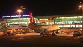 Διεθνής αερολιμένας Ataturk στη Ιστανμπούλ απόθεμα βίντεο