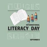 Διεθνής βασική εκπαίδευση ημέρα στις 8 Σεπτεμβρίου Στοκ Εικόνες