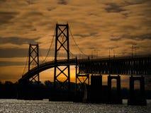 Διεθνής γέφυρα μεταξύ του Καναδά και των ΗΠΑ στοκ φωτογραφία με δικαίωμα ελεύθερης χρήσης