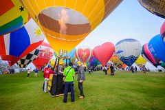 Διεθνής γιορτή 2018 μπαλονιών στο πάρκο Singha, Chiang Rai, θόριο Στοκ Εικόνες
