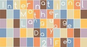 Διεθνής γλωσσική ημέρα μητέρων Στοκ Εικόνα