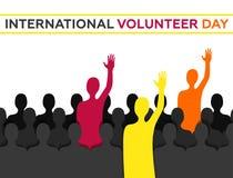Διεθνής εθελοντική ημέρα ελεύθερη απεικόνιση δικαιώματος