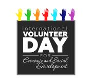 Διεθνής εθελοντική ημέρα απεικόνιση αποθεμάτων