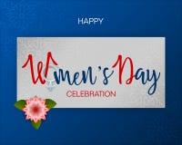 Διεθνής εορτασμός της ημέρας των γυναικών διανυσματική απεικόνιση