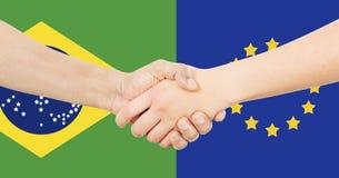 Διεθνής επιχείρηση - Βραζιλία - Ευρώπη Στοκ εικόνες με δικαίωμα ελεύθερης χρήσης