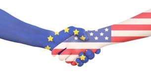 Διεθνής επιχείρηση - Ευρώπη - ΗΠΑ Στοκ φωτογραφία με δικαίωμα ελεύθερης χρήσης
