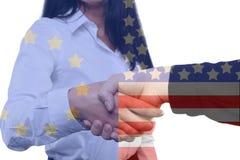 Διεθνής επιχείρηση - Ευρώπη - ΗΠΑ Στοκ εικόνα με δικαίωμα ελεύθερης χρήσης