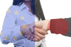 Διεθνής επιχείρηση - Ευρώπη - Ιαπωνία Στοκ Φωτογραφίες