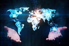 Διεθνής επιχείρηση και διακινούμενη έννοια Στοκ εικόνα με δικαίωμα ελεύθερης χρήσης