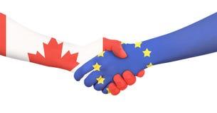 Διεθνής επιχείρηση - Καναδάς - Ευρώπη Στοκ Εικόνες