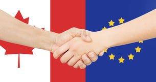 Διεθνής επιχείρηση - Καναδάς - Ευρώπη Στοκ εικόνα με δικαίωμα ελεύθερης χρήσης