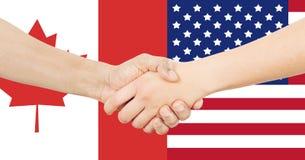 Διεθνής επιχείρηση - Καναδάς - ΗΠΑ Στοκ φωτογραφία με δικαίωμα ελεύθερης χρήσης