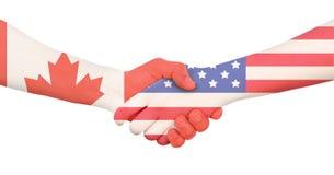 Διεθνής επιχείρηση - Καναδάς - ΗΠΑ Στοκ Εικόνα