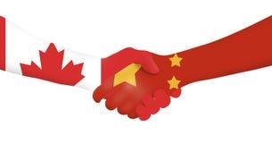 Διεθνής επιχείρηση - Καναδάς - Κίνα Στοκ Εικόνα