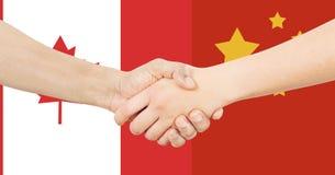 Διεθνής επιχείρηση - Καναδάς - Κίνα Στοκ Εικόνες