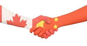 Διεθνής επιχείρηση - Καναδάς - Κίνα Στοκ φωτογραφίες με δικαίωμα ελεύθερης χρήσης
