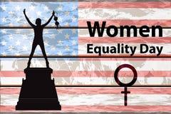 Διεθνής ημέρα γυναικών ` s Το κορίτσι σκιαγραφείται ελεύθερη απεικόνιση δικαιώματος