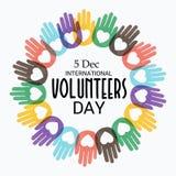 Διεθνής ημέρα εθελοντών Στοκ Εικόνα
