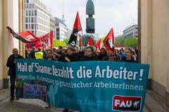 Διεθνής ημέρα εργασίας στο Βερολίνο Στοκ Εικόνες