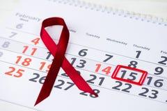 Διεθνής ημέρα καρκίνου παιδικής ηλικίας 15 Φεβρουαρίου σημάδι στο cale Στοκ Εικόνες
