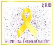 Διεθνής ημέρα καρκίνου παιδικής ηλικίας Στοκ φωτογραφία με δικαίωμα ελεύθερης χρήσης