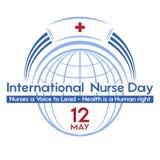 Διεθνής ημέρα νοσοκόμων μια κάρτα, μια αφίσα ή ένα έμβλημα για τις διακοπές Στοκ Εικόνα