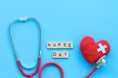 Διεθνής ημέρα νοσοκόμων, στις 12 Μαΐου Υγειονομική περίθαλψη και ιατρική έννοια Στοκ Εικόνα