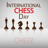 Διεθνής ημέρα σκακιού Στοκ φωτογραφίες με δικαίωμα ελεύθερης χρήσης