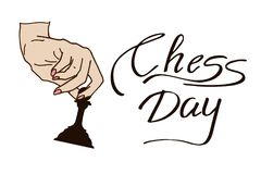 Διεθνής ημέρα σκακιού Στοκ Εικόνες