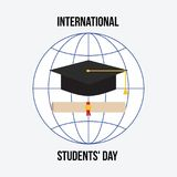 Διεθνής ημέρα σπουδαστών ` Στοκ εικόνα με δικαίωμα ελεύθερης χρήσης
