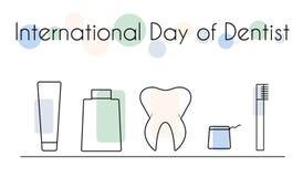Διεθνής ημέρα του οδοντιάτρου Στοκ φωτογραφία με δικαίωμα ελεύθερης χρήσης