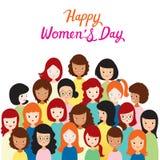 Διεθνής ημέρα Women's, ομάδα γυναικών με τα διάφορα έθνη Στοκ φωτογραφίες με δικαίωμα ελεύθερης χρήσης